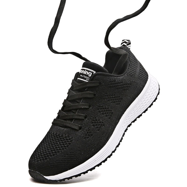 High Quality Women Sneakers Breathable Mesh Running Womens Lace Up Sport Shoes Gym Jogging Female Zapatillas Mujer Deportiva 44