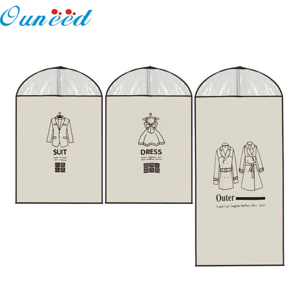 Home Outer Dress Suit Clothes Garment Cover Case Dustproof Storage Bags Protector Levert Dropship mar9