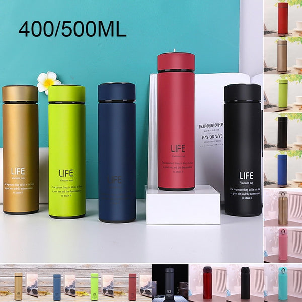 Hoomall Creative Fruit Bouncing Cover Insulation Cup Stainless Steel Thermos Bottle Portable Student Fruit Pattern Water Bottle