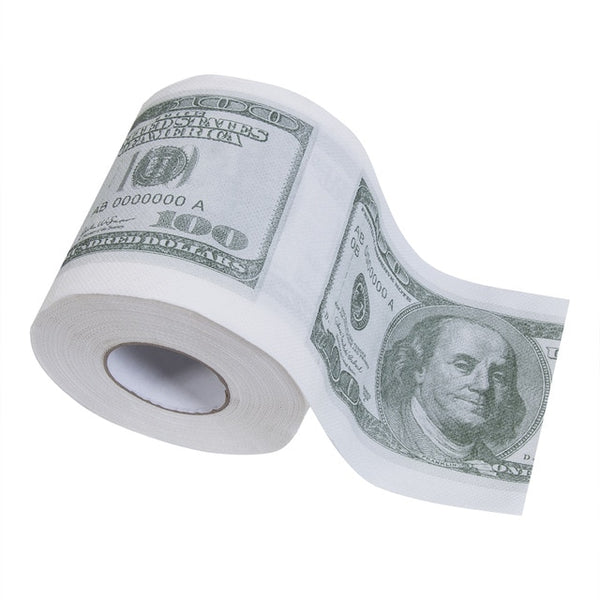 Hot Donald Trump $100 Dollar  Humour Toilet Paper Bill Toilet Paper Roll Novelty Gag Gift Dump Trump Funny Gag Gift