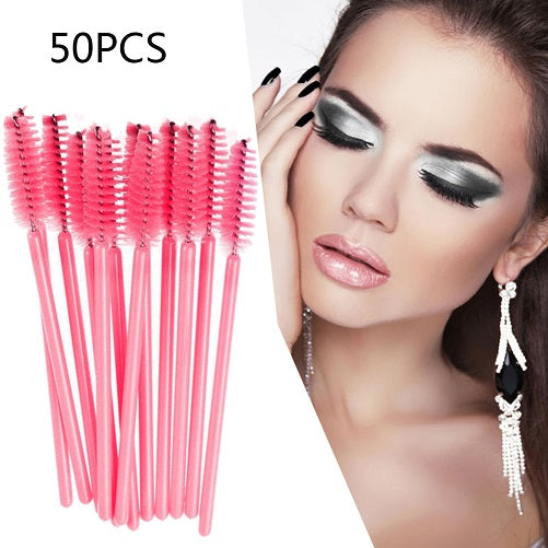 Hot Eyeshadow Makeup Brush Applicator Spoolers Set Tool Cosmetic Eyelash Extension Disposable Mascara Wand