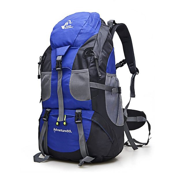 Hot Sale 50L Outdoor Backpack Camping Bag Waterproof Mountaineering Hiking Backpacks Molle Sport Bag Climbing Rucksack FK0396