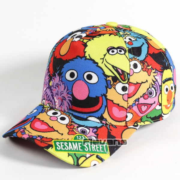 Hot Sale Sesame Street Elmo Cookie Monster Cartoon Snapback Hat Fashion Adjustable Baseball Cap Unisex Men Women Boy Girl