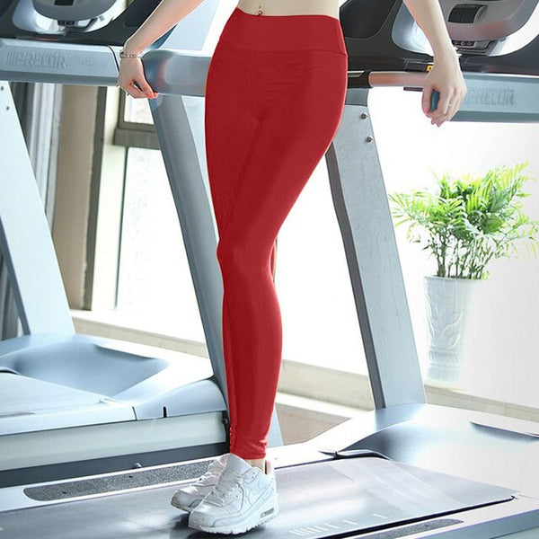Hot Women Fitness Compression Pants Slim Casual - Candy Color Sportswear Workout Jeggings Leggings Quick Dry Pants
