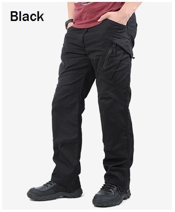 IX9 City Tactical Cargo Pants Men Combat SWAT Army Military Pants Cotton Many Pockets Stretch Flexible Man Casual Trousers XXXL