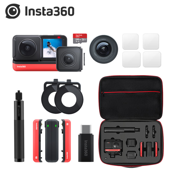 Insta360 ONE R sports Action Camera 5.7K 360 4K wide angle waterproof video camera invisible Selfie Stick Storage Case bag