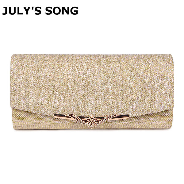 JULY'S SONG Shiny Women Evening Bag Wedding Clutch Bag With Chain Luxury Glitter Party Bridal Ladies Handbags Bolsa Mujer