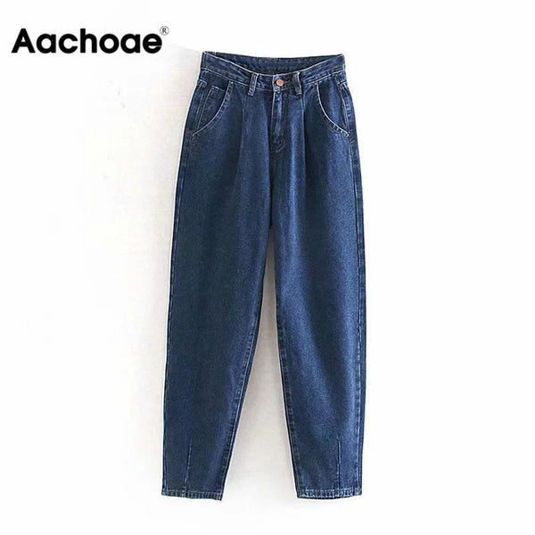 Jeans Woman Loose Casual Harem Pants boyfriends Mom Jeans Streetwear Denim Pants Women Pleated Trousers Slouchy Jeans Femme