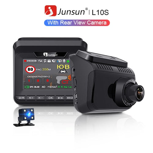 Junsun 2019 Car DVR Radar Detector GPS 3 in 1 FHD 1296P Video Recorder Cam Dash Camera Antiradar Tripods Arrow Robot Avtodoria