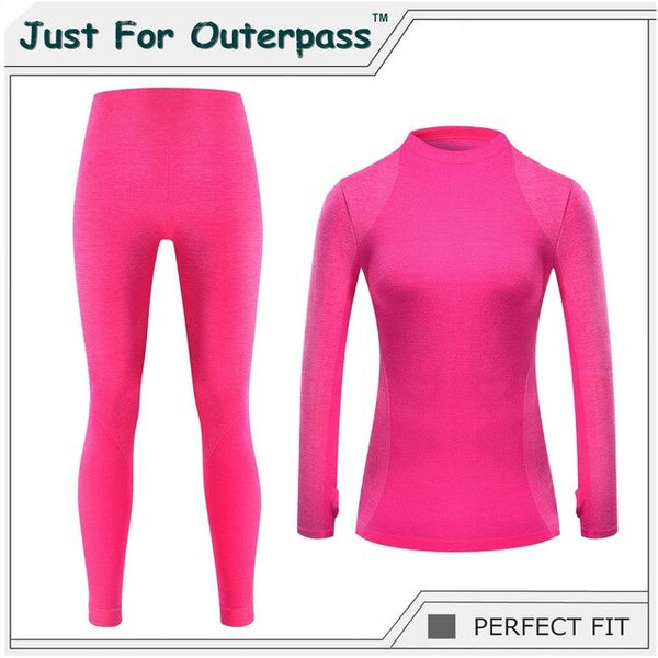New Winter Thermal Underwear Women Elastic Breathable Female HI-Q Casual Warm Long Johns Set