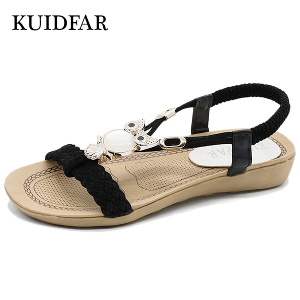 Fashion Women Sandals Summer Gladiator Shoes Ladies Bohemia Shoes Woman Comfort Beach Shoes Flat Sandals Red