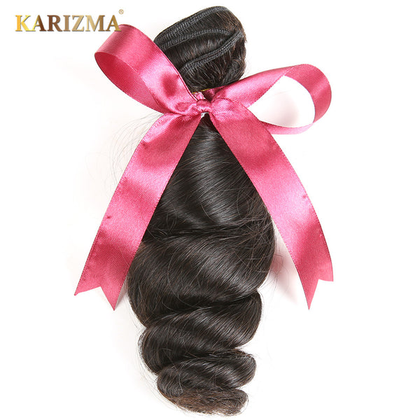 Karizma Brazilian Loose Wave Hair Extension 100% Human Hair Bundles Non Remy Hair Weave 1 Piece 8-28inch Natural Color Can Dyed