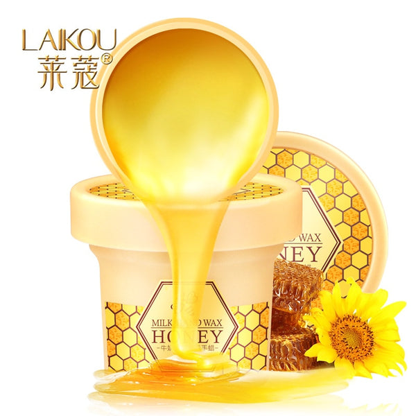 LAIKOU Milk Honey Paraffin Wax Hand Mask Hand Care Moisturizing Whitening Skin Care Exfoliating Calluses Hand Film Hand Cream