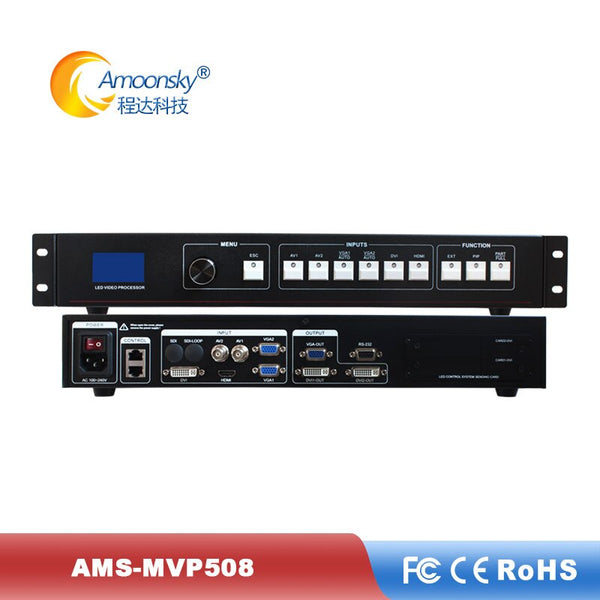 LED billboard China P3.9 rental video processor AMS-MVP508 for led screen outdoor stage background video wall