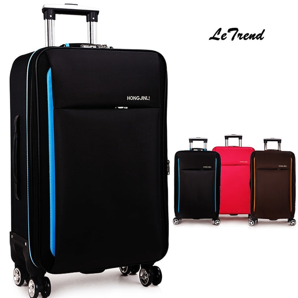 Letrend New Fashion Oxford Rolling Luggage Spinner Men Student Trolley Bag Suitcases Travel Bag Business Password box 20/24/28