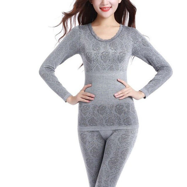 Long Johns for Women Single Size Women Winter Thermal Underwear Suit Thick Modal Ladies Thermal Underwear Female Clothing