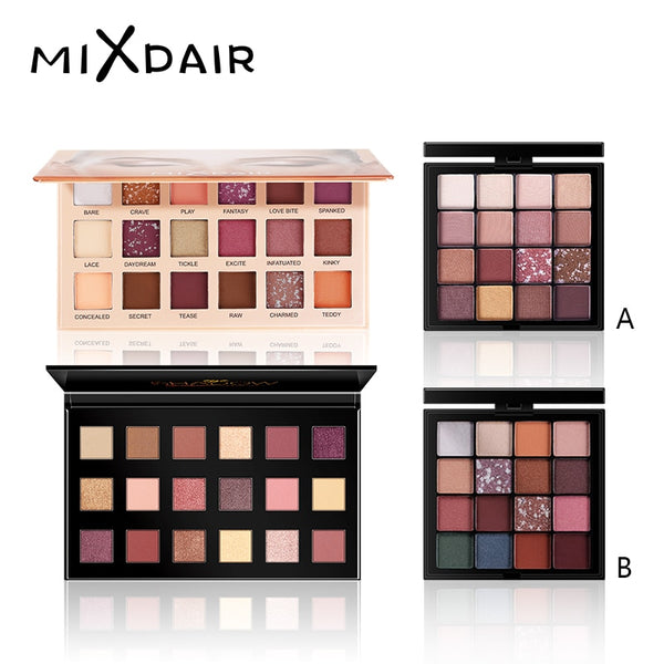 MIXDAIR Glitter Eyeshadow Palete Make up Eye Shadow palette Long-lasting Easy To Wear Eyeshadow Matte Shimmer sombras