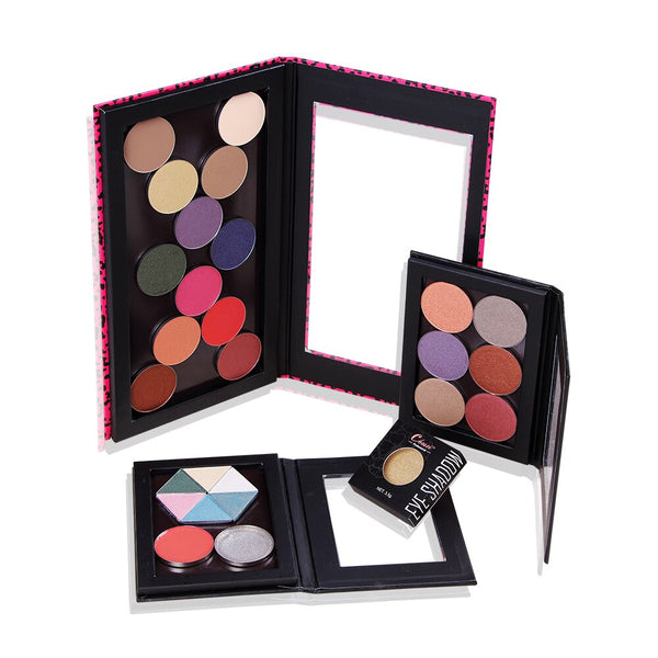 Magnetic Eyeshadow Palette Pink Leopard Crocodile Private Label Black Blank Pattern Professional Naked Makeup Stroage