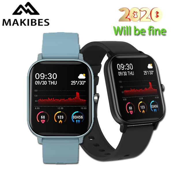 Makibes P8 Smart Watch  Full Touch Fitness Tracker Blood Pressure Smartband Clock Wearable Devices for GTS Multi-language