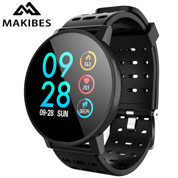 Makibes T3 Smart watch waterproof Activity Fitness tracker HR Blood oxygen Blood pressure Clock Men women smartwatch PK V11