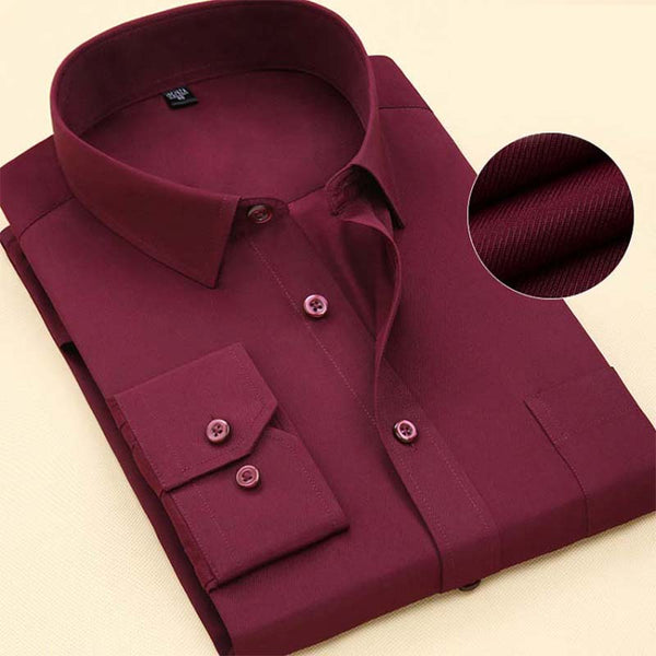 Men Long Sleeve Shirt  Spring New Brand Solid Color Business Office Formal Men Dress Shirt Plus Size Male Shirt Chemise 7XL