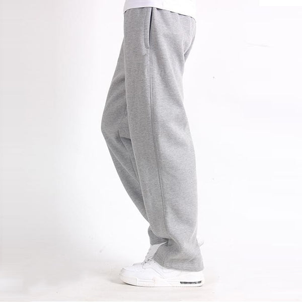 Men Plus Size Pants 6XL Solid Baggy Loose Elastic Pants Cotton Sweatpants Casual Pants Trousers Large Big Plus Size 5XL 6XL 7XL