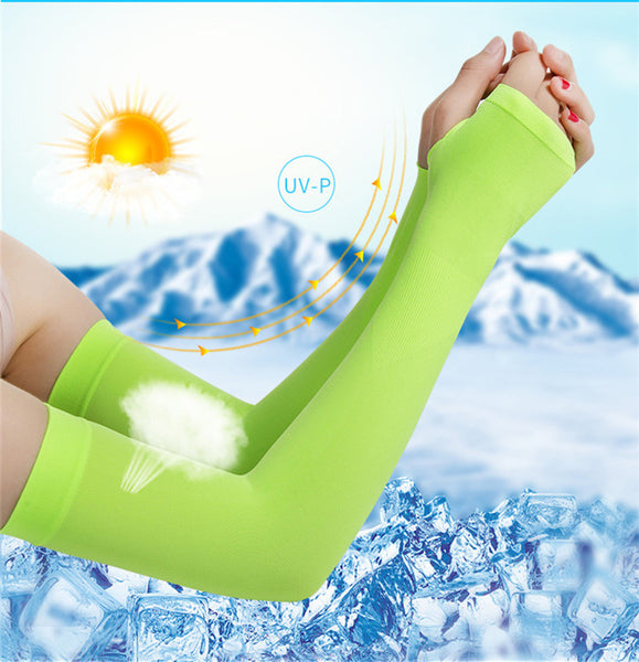 Men Pure Color Arm Sleeve Sport Running Cycling Golf Fishing Fingerless Arm Warmers Women Ciclismo Basketball Cuff Sleeves