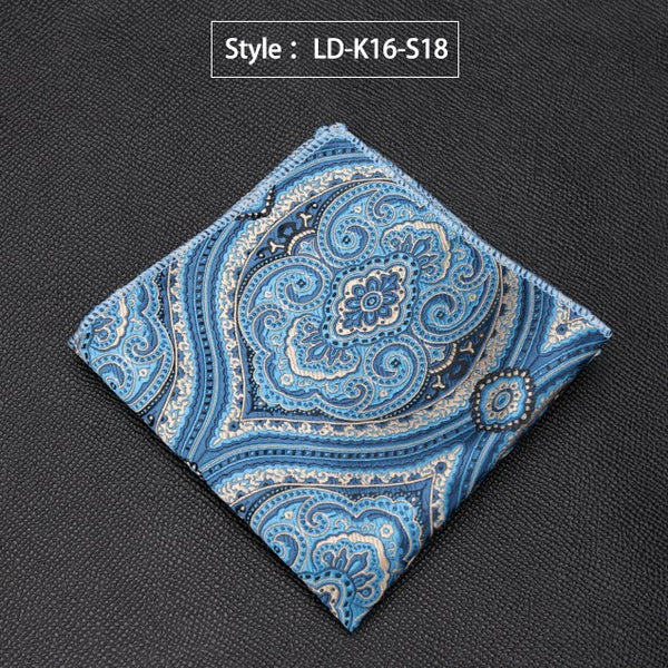 Mens Handkerchief Luxury Jacquard Tie for Men Gifts Paisley Pocket Square Towel Hankies Fashion Formal Dress Accessories Cravat