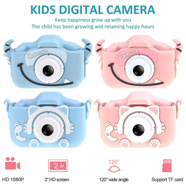 Mini Cartoon Kids Camera Creative Children's Camera HD Digital Camera Portable 1080P Camera For Kids Birthday Christmas Gift