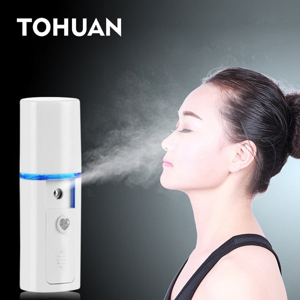 Mini Face Steamer Nano Mister USB Rechargeable Facial Sprayer Beauty Sauna Hydrating Portable Ultrasonic Humidifier Skin Care