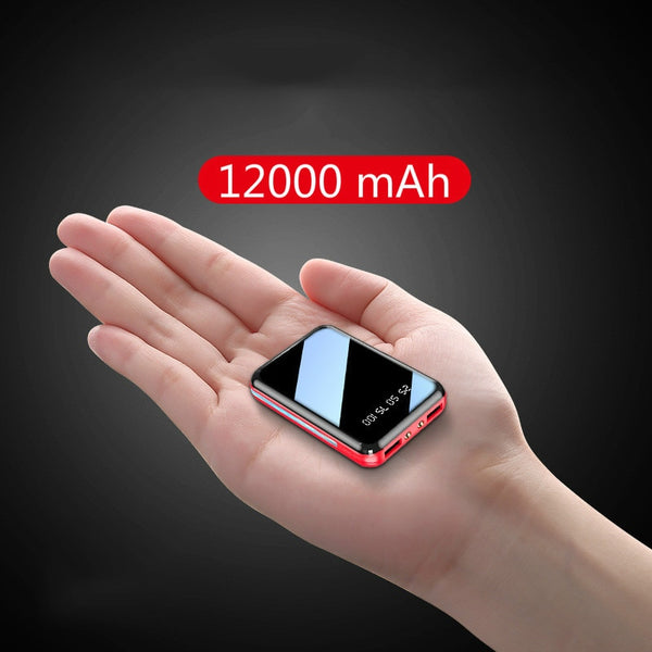 Mini Power Bank 12000mAh USB Charging Portable Charger External Battery Pack For Xiaomi mi 8 iPhone 11 pro Samsung S8 Poverbank