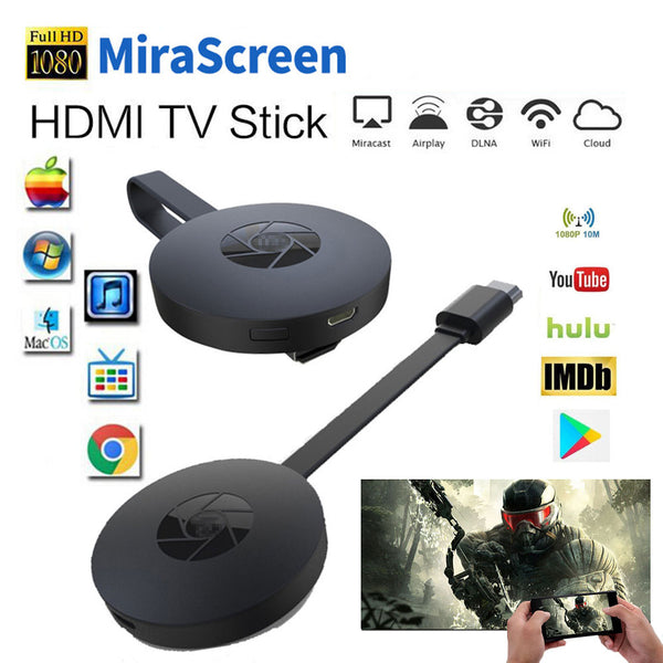 Miracast Android TV Stick MiraScreen WiFi TV Dongle Receiver 1080P Display DLNA Airplay Media Streamer Adapter