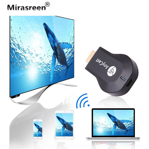 Mirascreen  TV Dongle Receiver for AnyCast M2 for Airplay WiFi Display Miracast Wireless HDMI TV Stick for Phone Android PC