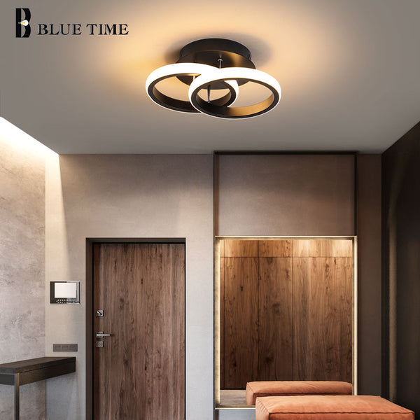 Modern LED Aisle Ceiling Lights Lustre Black&White Led Ceiling Lamps For Bedroom Staircase Light Corridor Light Indoor Lighting