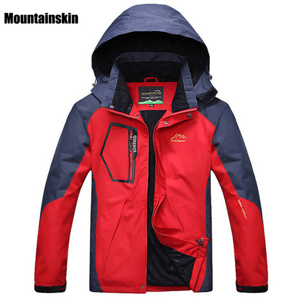 Mountainskin 5XL Men's Spring Fleece Softshell Jackets Outdoor Sports Waterproof Coats Hiking Camping Trekking Male Jacket RM019