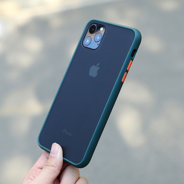 N1986N Phone Case For iPhone 11 Pro X XR XS Max 7 8 Plus Luxury Contrast Color Midnight Green Matte Hard PC For iPhone 11 Cover