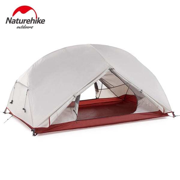 Naturehike Custom Mongar 1 2 3 People Waterproof Double Layer Outdoor Tent Aluminum Rod Gray Ultralight Single Camping Tents Mat