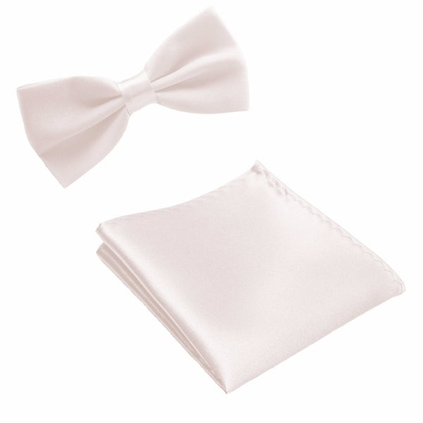 Neck Tie Set Bow Ties for Men Pocket square Wedding Polyester Butterfly Handkerchief Bowtie