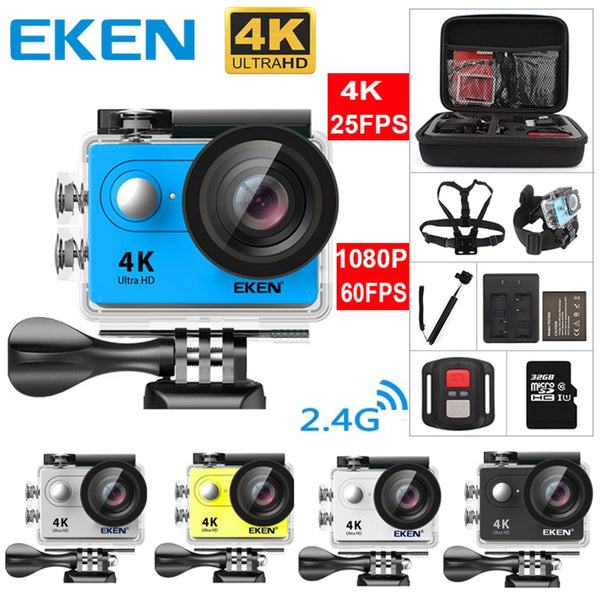 New 100% Original Eken H9 / H9R Ultra HD 4K Action Camera 30m Waterproof 2.0' Screen 1080p Sport Camera Go Extreme Pro Cam