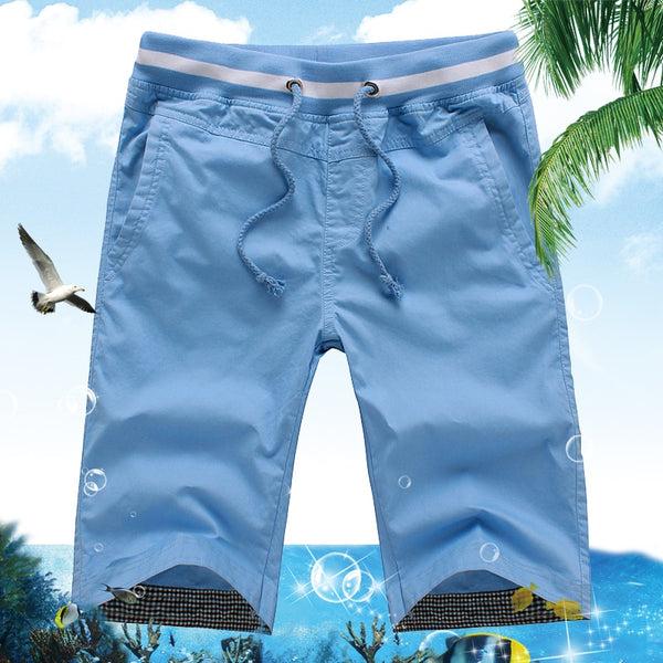 New Men's Summer Casual Shorts Men Straight Shorts Male Fashion Cotton Beach Short Pants Candy Colors Plus Size 5XL