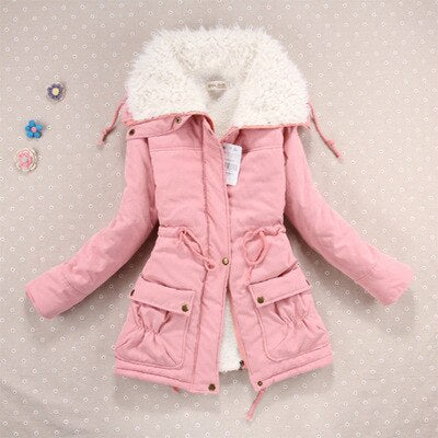 New Winter Coat Women military Outwear Medium-Long Wadded Hooded snow Parka thickness Cotton Warm casual Jacket Plus Size