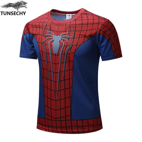 New  Batman Spiderman Ironman Superman Captain America Winter soldier T shirt Avengers Costume Comics Superhero mens