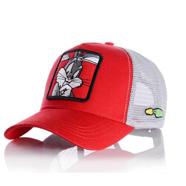 New Fashion Baseball Cap Women Men Breathable Mesh Caps Unisex Snapback Hat Embroidery Animals Hip Hop Hat Bone