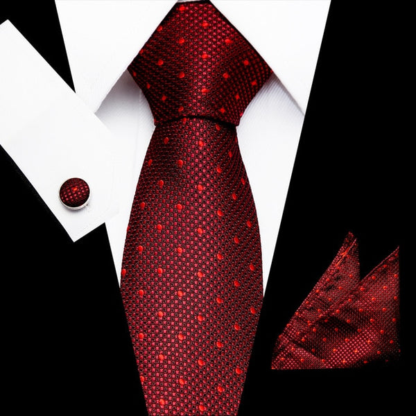 New Fashion Paisley Floral Tie Men's 7.5cm Silk Necktie Handkerchief Set Blue Brown Red Wedding Solid Tie Hanky Set Ties For Men