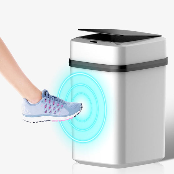 New Smart Induction Trash Can Wireless Sensor Large Automatic Trash Bin Home intelligent Electric garbage for Kitchen Bathroom