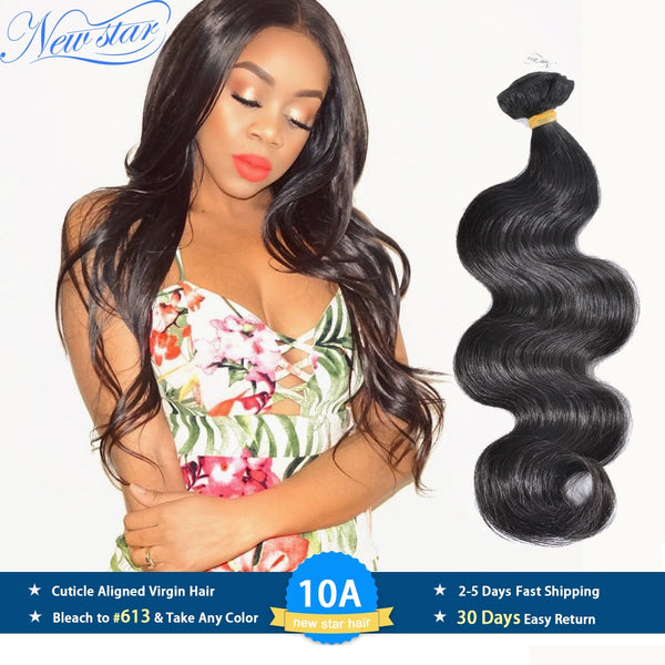 New Star Hair Peruvian Body Wave Virgin Hair Weaving 1/3/4 Bundles 100%Unprocessed 10A Thick Raw Human Hair Weave Intact Cuticle