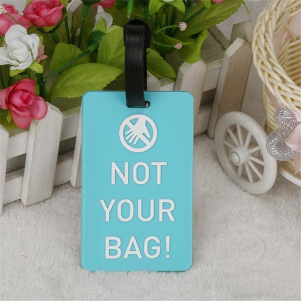 New Suitcase Luggage Tags Identifier Label ID Address Holder Environmental Protection Cover Luggage Tag Travel Accessories