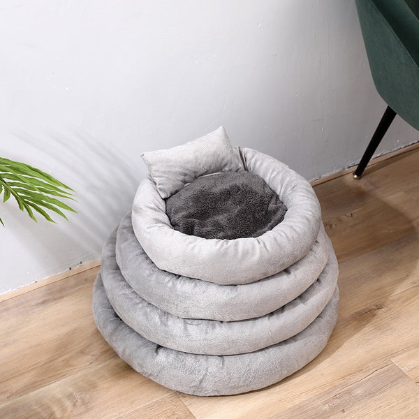 New Warm Round Dog Bed Round Pet Lounger Cushion For Small Medium Dogs & Cat Winter Dog Kennel Puppy Mat Pet Bed Cat Bed
