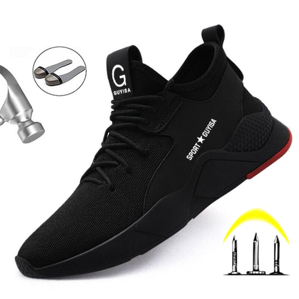 New Work Safety Boot Steel Toe Safety Shoes Anti-Piercing Breathable Working Shoes Indestructible Shoes Men Work Sneakers Ryder