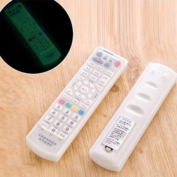 New fluorescent Air Condition Remote Control Night Lights Dust Cover TV Controller Silicone  Protective Storage Bag